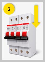 Paso 2. Bajar el interruptor general (IGA) o el diferencial